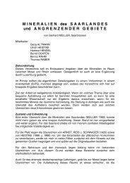 Mineralien des Saarlandes und angrenzender Gebiete - MGAS