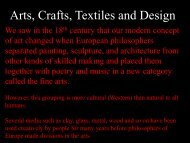 Arts, Crafts, Textiles and Design - MichaelAldana.com
