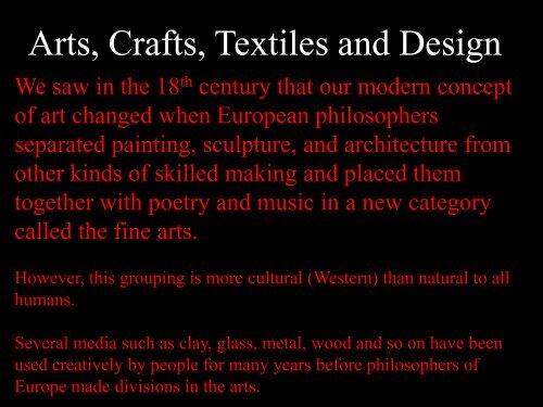 Arts, Crafts, Textiles and Design - MichaelAldana.com