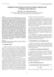 hybrid system based fuzzy-pid control schemes for ... - ICTACT.IN