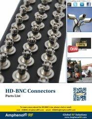 HD-BNC Connectors - Amphenol RF