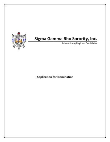 Sigma Gamma Rho Sorority, Inc. - Amazon Web Services