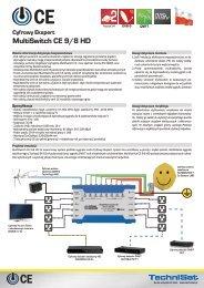 Cyfrowy Ekspert MultiSwitch CE 9/8 HD - SatTeam