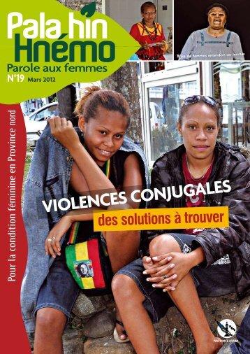VIOlENCEs CONjugalEs - Province Nord