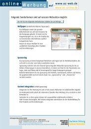 online-Werbung auf