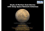 Study of Martian Dust Storms with Deep Space Network ... - CASPER