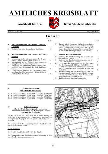 I nhalt - Kreis Minden Lübbecke