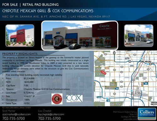 chipotle mexican grill & cox communications - Property Line