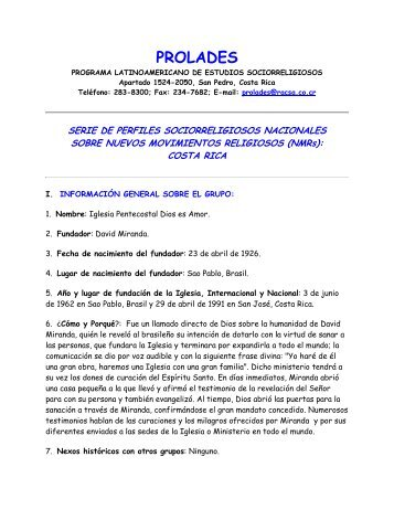 IGLESIA PENTECOSTAL DIOS ES AMOR - Prolades.com