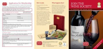 How to join - The Wine Society