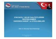 Ar-Ge Merkezleri - İzmir Ekonomi Üniversitesi