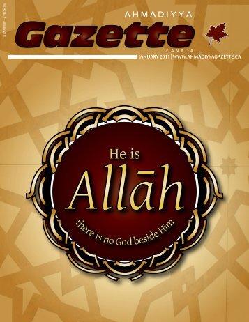 English PDF - Ahmadiyya Gazette Canada