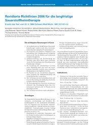 Sauerstoffheimtherapie - Richtlinien 2006 (SMW) - Schweizerische ...