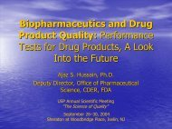 Performance Tests for Drug Products, A Look Into the Future