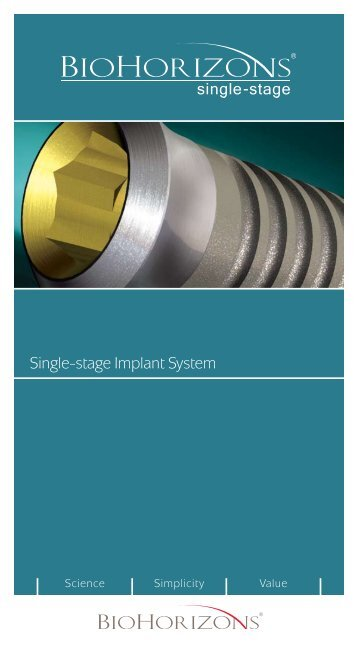Single-stage Implant System - BioHorizons