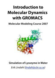 Introduction to Molecular Dynamics with GROMACS