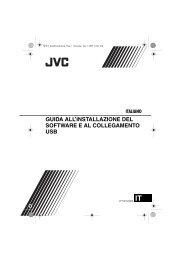 guida all'installazione del software e al collegamento usb italiano - Jvc