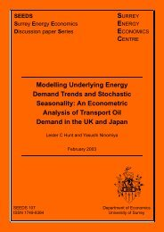 Modelling Underlying Energy Demand Trends and Stochastic ...