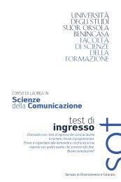 Scienze della comunicazione - Istituto Universitario Suor Orsola ...