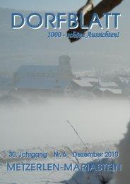 montag, 13. dezember 2010 20.00 uhr, allmendhalle metzerlen a
