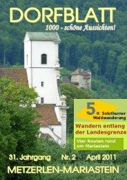 Wandern entlang der Landesgrenze - Metzerlen-Mariastein