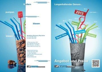 Angebot und Preise - A3 Betonpumpen AG