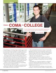 CoMA CollEGE - Shepherd Center's Spinal Column Magazine