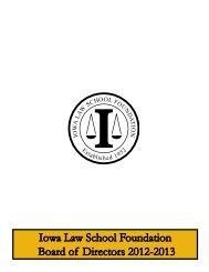Iowa Law School Foundation Board of Directors 2012-2013