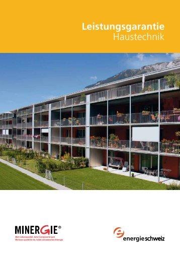 Leistungsgarantie Haustechnik - Minergie