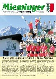 21. Juli 2005 MIEMINGER DORFZEITUNG - Gemeinde Mieming