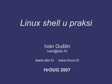 R09_Guštin Linux shell u praksi.pdf - HrOUG