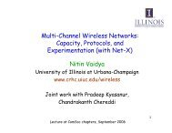 Multi-Channel Wireless Networks: Capacity, Protocols, and ...