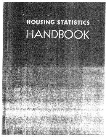 Housing Statistics Handbook - Michael Carliner