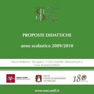 ProPoste didattiche anno scolastico 2009/2010 - Museo di Storia ...