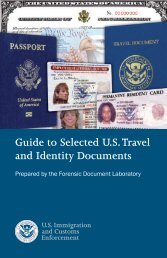 Guide to Selected U.S. Travel and Identity Documents