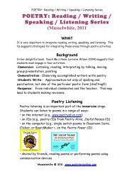 Poetry Read Write Spek Listen - AAC Intervention.com