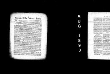 August 1890 - Millburn Public Library