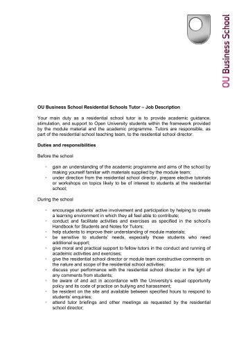 tutor responsibilities avid tutors job description final for