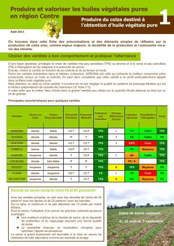 Note 27 ravageurs automne colza 2 chambre d 39 agriculture for Chambre agriculture indre