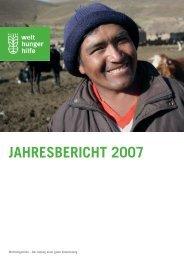 Krisen und Konflikte 2007 - Welthungerhilfe