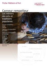 Canneur rempailleur - Institut National des Métiers d'Art
