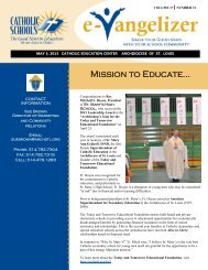 Volume 17 No. 31 - May 3, 2013 - Archdiocese of St. Louis