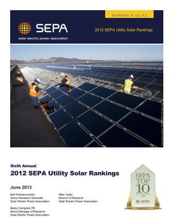 Read the Sixth Annual Utility Solar Rankings Report - Solar Electric ...