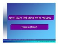 New River Pollution from Mexico - International Boundary and Water ...