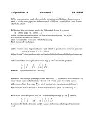 Aufgabenblatt 14, Mathematik 2, WS 2008