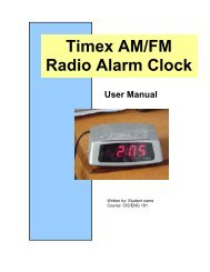 Timex AM/FM Radio Alarm Clock
