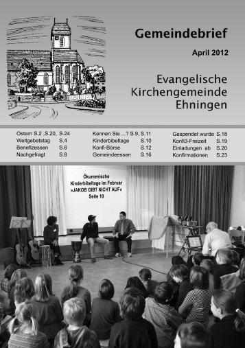 Download Gemeindebrief (pdf 4,7 MB) - Kirchen im Kreis Böblingen