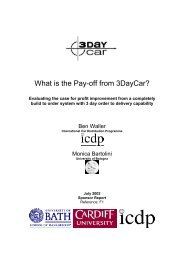 What is the Pay-off from 3DayCar?