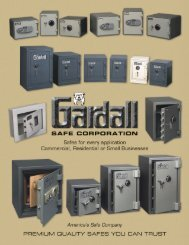 Standard Safe Classifications - Gardall Safe Corporation