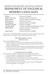 department of english & modern languages - Carroll University
